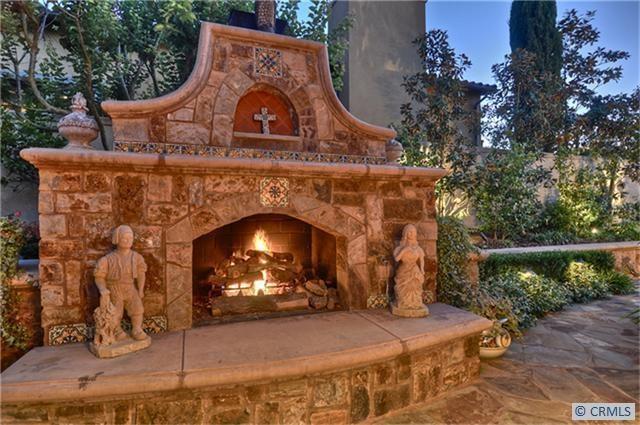 Beautiful Tuscan Fireplace Backyards Gardens Pinterest
