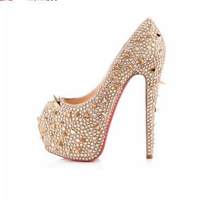fancy shoes for women with heels | .com : Buy Nude color fancy ladies