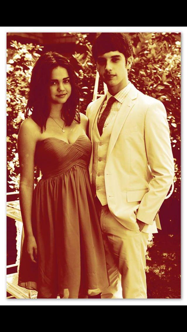 Maia Mitchell and David Lambert