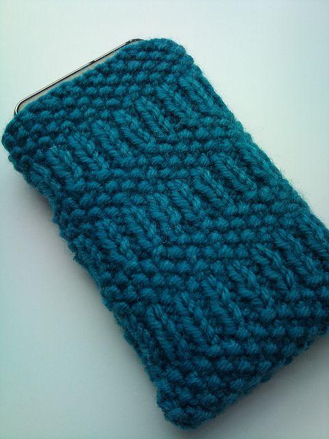 Free Knitting Pattern: smart phone case tricoter Pinterest