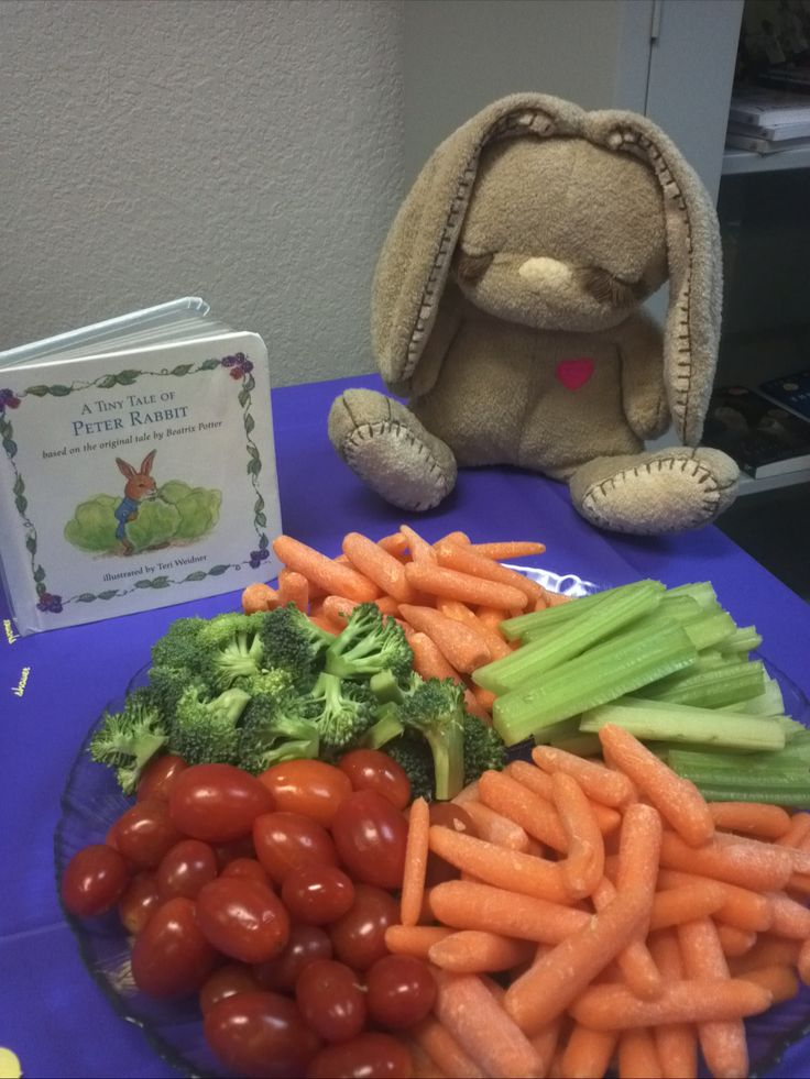 book themed baby shower peter rabbit vegetable tray sweet pea