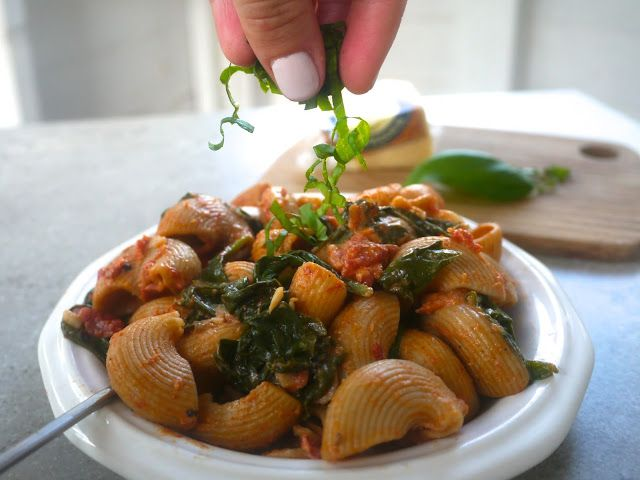 Coffee for Lunch: Spicy Spinach Pasta | Recipes | Pinterest
