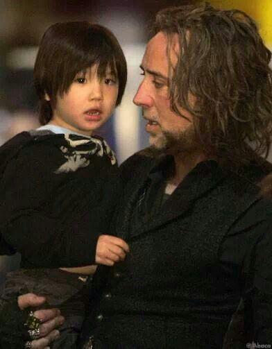 Nicolas & his son....