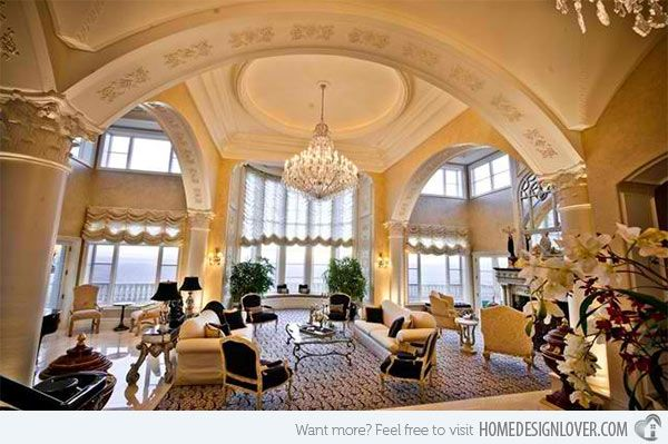 Luxury Mansion Living Room : More like this: mansions , living rooms and living room ideas .