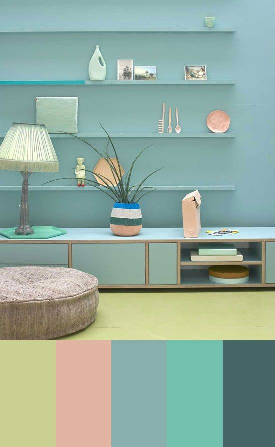 Color Study A Quirky Pastel Room Home All Pinterest