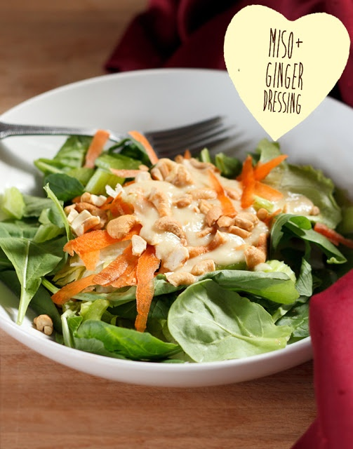 Vegan Miso Ginger Salad Dressing | SALADS/COLD PLATE | Pinterest