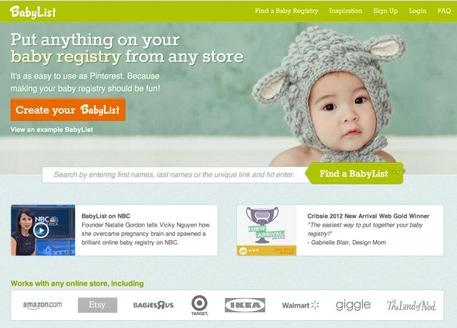 BabyList, A Universal Baby Registry Built By An Ex-Amazon Developer ...