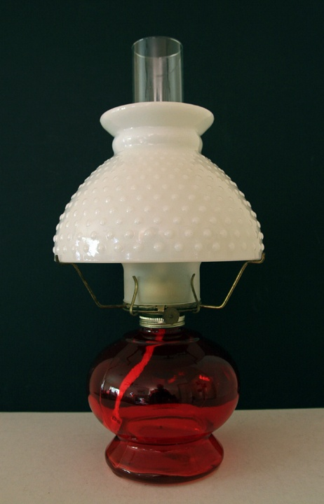 vintage milk glass table oil lamp oil and gas lamps