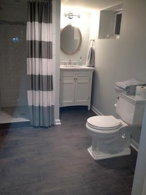Basement Tub : porcelain wood floor tile in bathrooms Dream Home Bathrooms Pin...