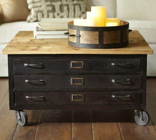 Cole Steel Flat File Coffee Table Industrial Steel Cabinets Pinterest