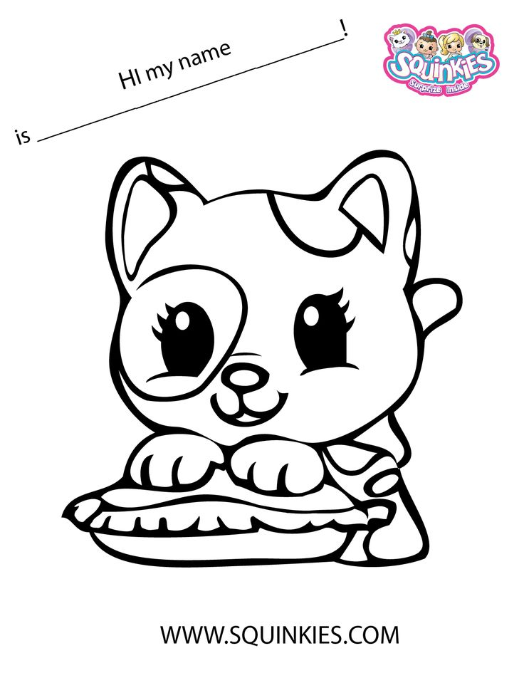 Squinkies Coloring Page Happy Birthday Pinterest Squinkie Coloring Pages