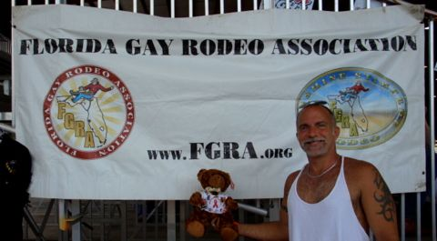 Dab Garner and Dab the AIDS Bear for the Florida Gay Rodeo Association: pinterest.com/pin/494762709034574516