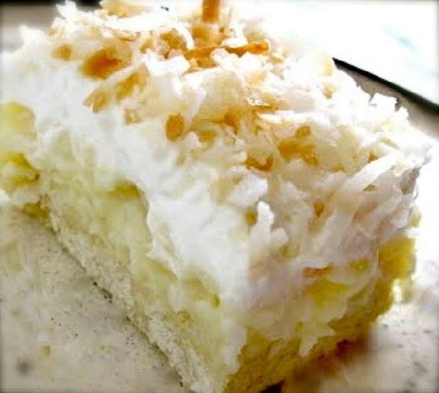 Coconut cream pie bars | Cakes & Cupcakes | Pinterest