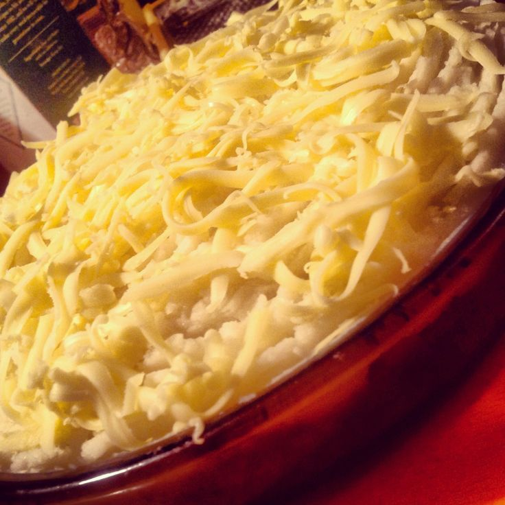 Healthy and hearty Shepherds Pie is topped with Grated Mature Cheddar ...