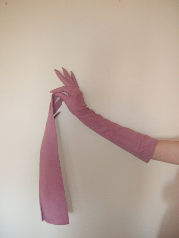 Hermes 1950s Suede Opera Gloves by MsGolightlyVintage on Etsy, $300.00