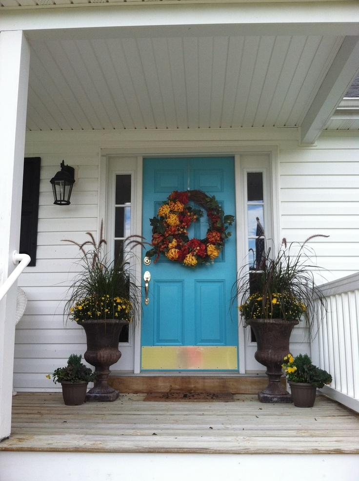 Front door color bm cool aqua front door aqua paint for Cool front doors
