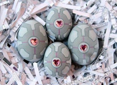 Companion cube easter eggs!