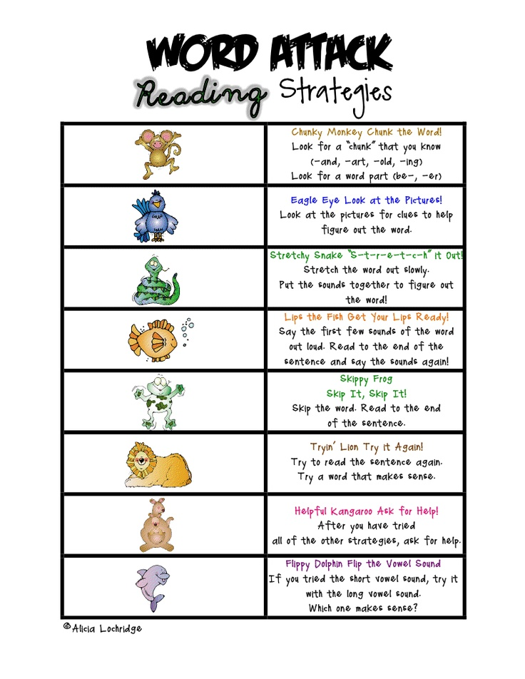 word attack strategies for parents : LA little ones ...