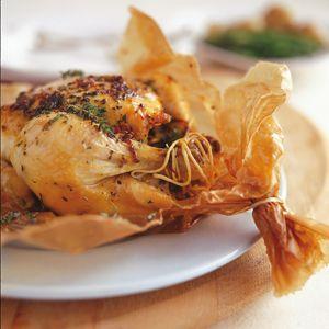 Brown-bag chicken - incredibly succulent golden-brown chicken