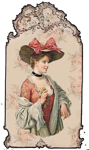 Vintage lady tag