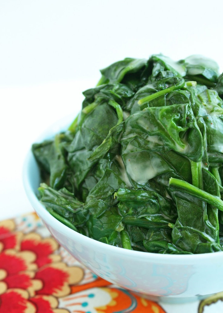 MEH: Coconut Creamed Spinach // nothing all that special here; very ...