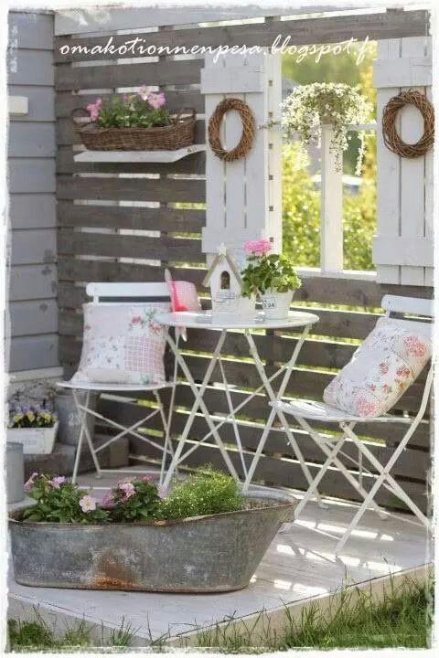 Garden shabby  Romantique vintage style  Pinterest