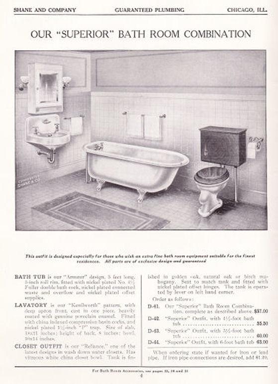 1915 bathroom catalog 1910 39 s pinterest for 1915 bathroom photos