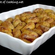 ... SALT AND VINEGAR ROASTED BABY POTATOES - OOOOH, LOVE SALT & VINEGAR