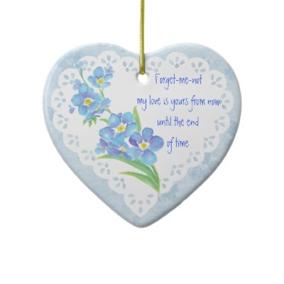 Forget Me Nots Watercolor on Love Poems For A Girl