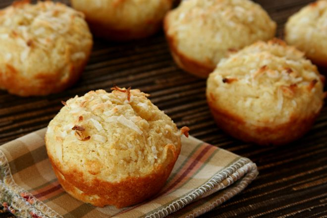 Double coconut muffins | Quick Breads & Muffins | Pinterest
