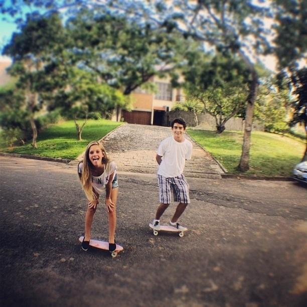 cute couple skateboarding   cutesy   Pinterest