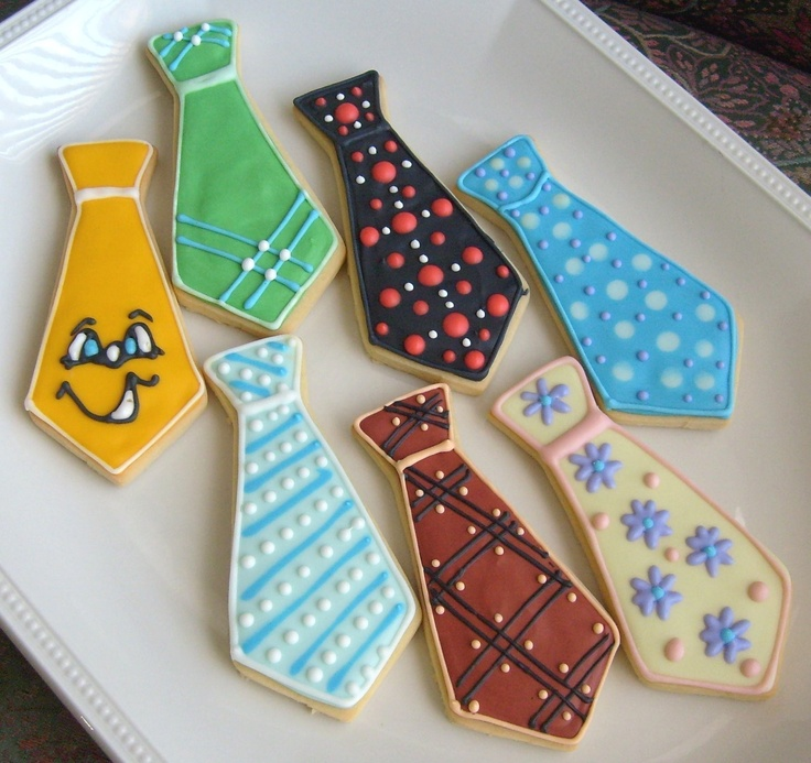 father's day iced cookies