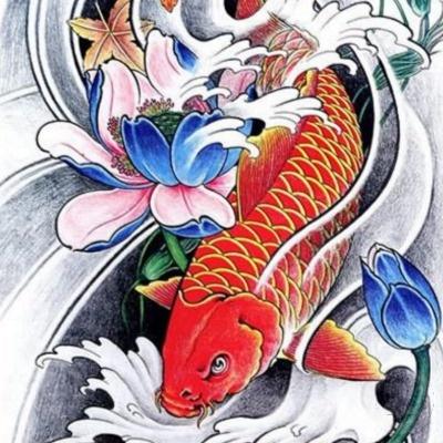 Freeman x tattoos page 2 for Koi fish good luck