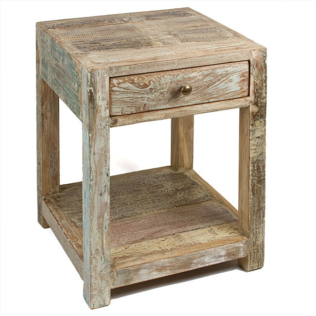 Wood Side Table : reclaimed wood side table $200  Upcycle Furniture  Pinterest