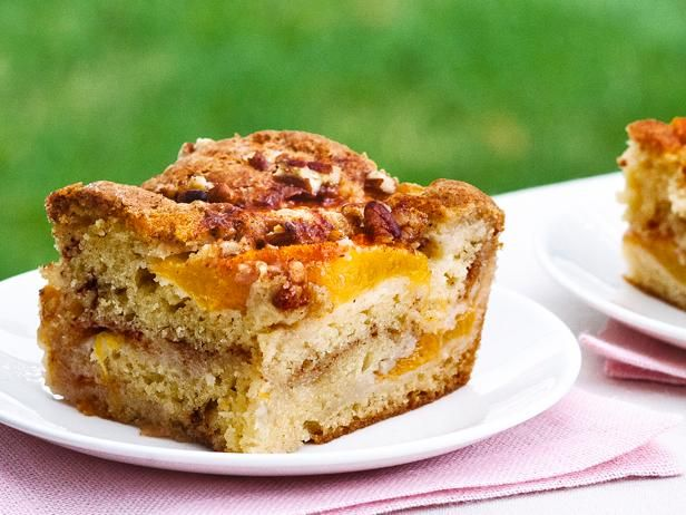 Recipe of the Day: Ina's Fresh Peach Cake   Sour cream adds moisture and subtle tang to Ina's seasonal dessert, packed with two layers of fresh, juicy peaches.