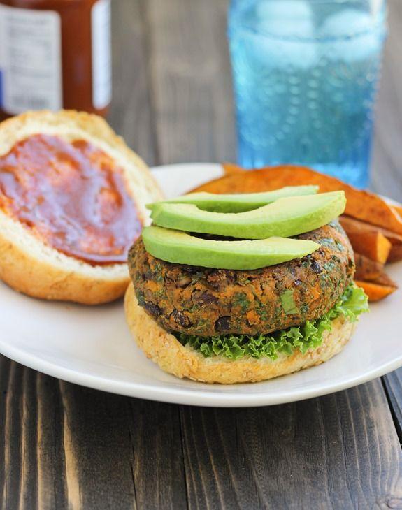 ... Bean, Kale & Sweet Potato Burgers from the Let Them Eat Kale! cookbook