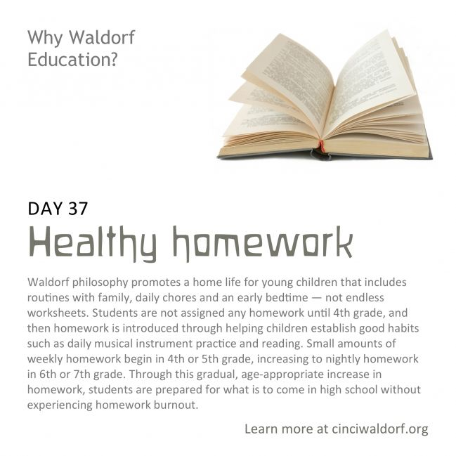Day 37: Healthy homework