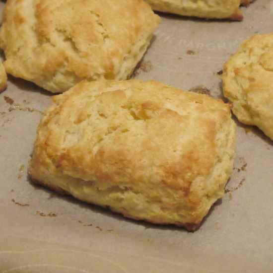 Easy, from-scratch baking-powder biscuits. No buttermilk required!