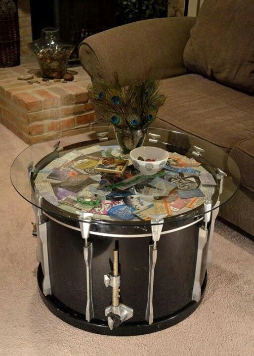 drum table diy home decor furniture pinterest
