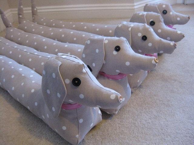 Knitting Pattern For Sausage Dog Draught Excluder : Sausage Dog Draft Excluders Inspiring projects Pinterest