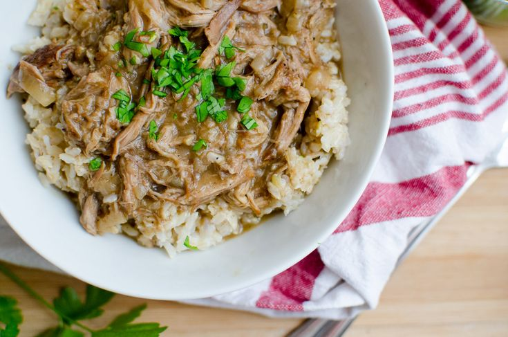 Smothered Pork Roast over rice | Various Yummys | Pinterest