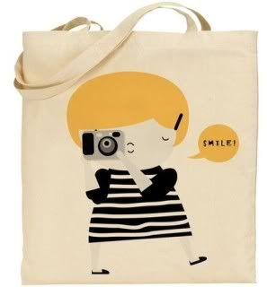 Adorable camera lover's tote bag