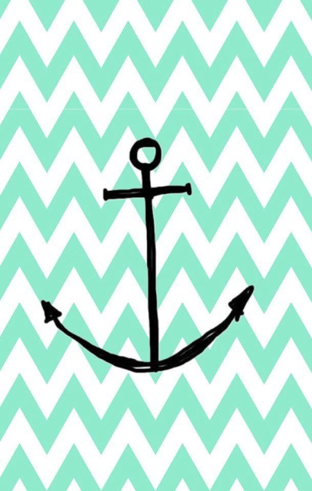 Anchor Chevron Wallpaper Mint chevron anchor wallpaper