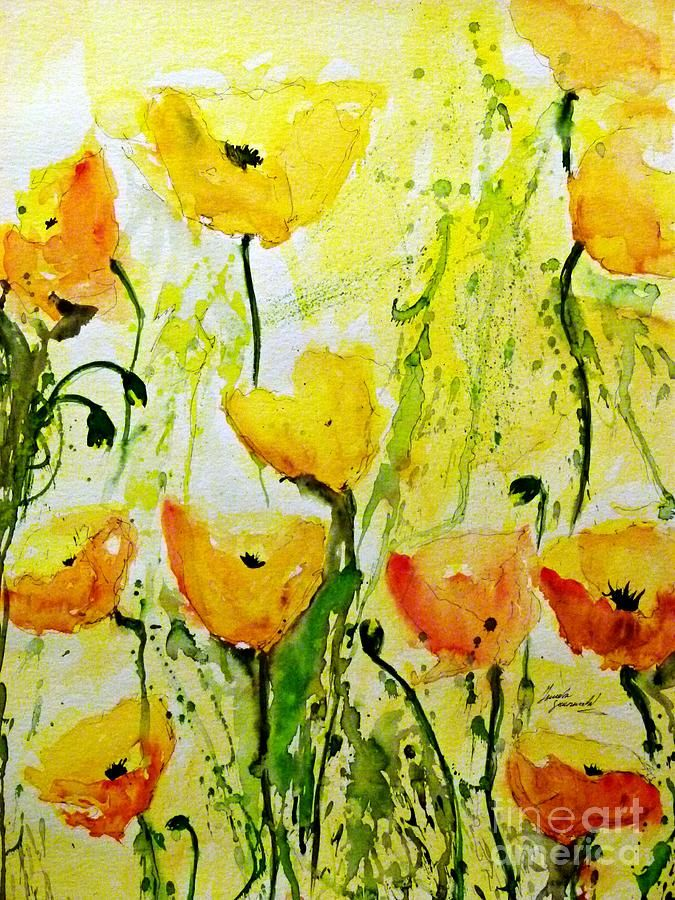 Yellow Poppy 2 - Abstract Floral Painting Print by Ismeta ...
