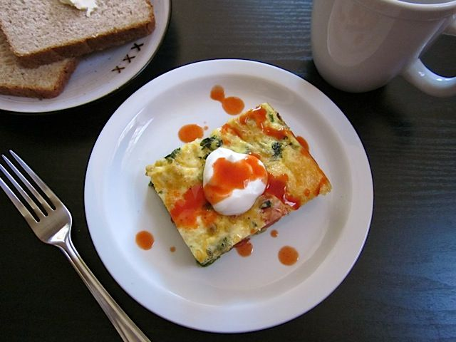 Veggie Egg Casserole -- this is fantastic! The only thing is that mine ...