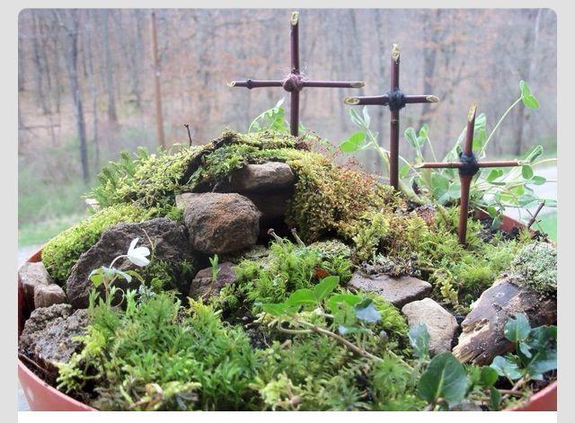 Resurrection garden easter deco pinterest for Easter garden designs