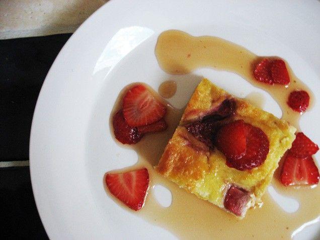 White Chocolate Strawberry Bread Pudding | Recipe