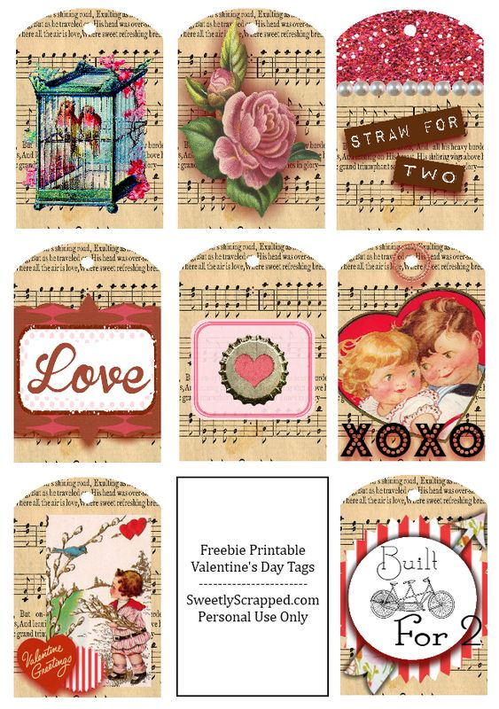 Free Download of these Shabby & Vintage Tags