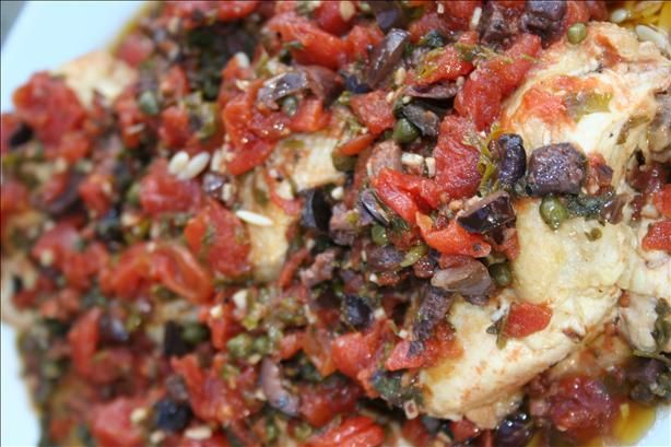 Chicken Thighs With Tomatoes, Olives and Capers from Food.com: I just ...