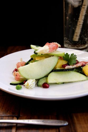 ... squash apple and pomegranate pops crab salad crab salad with endive